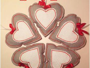 Пошив сердечек ко Дню Всех Влюбленных 14 февраля | Ярмарка Мастеров - ручная работа, handmade