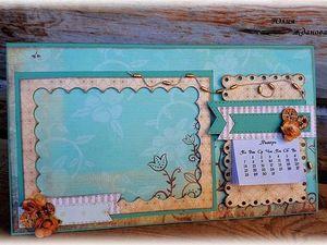 Делаем календарь с фоторамкой в подарок. Ярмарка Мастеров - ручная работа, handmade.