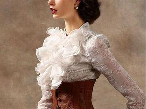 Жабо: волнистое очарование из XVIII века. Ярмарка Мастеров - ручная работа, handmade.