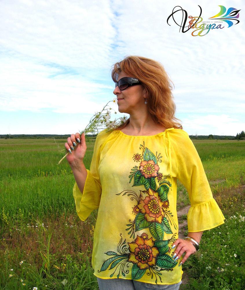 блуза цветы лета