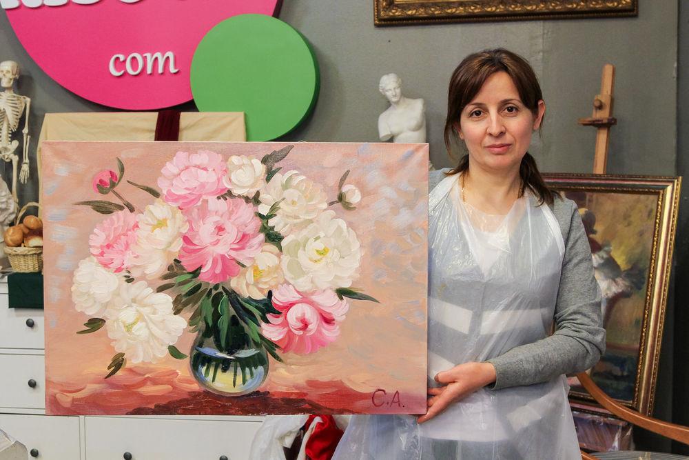 мастер-класс, картина своими руками, цветы своими руками