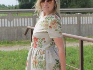 Снижение цены на платье  Linen and Roses | Ярмарка Мастеров - ручная работа, handmade