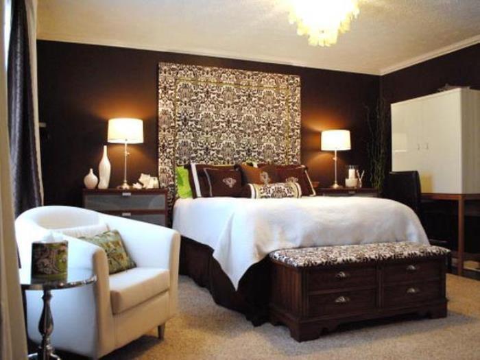 фотографии спален в шоколаде с золотом изменении