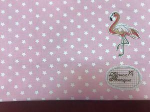 Наши новинки: Поплин Мелкие звездочки на цветном. Розовый. Ярмарка Мастеров - ручная работа, handmade.