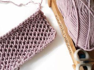 Учимся вязать узор «Соты» спицами | Ярмарка Мастеров - ручная работа, handmade