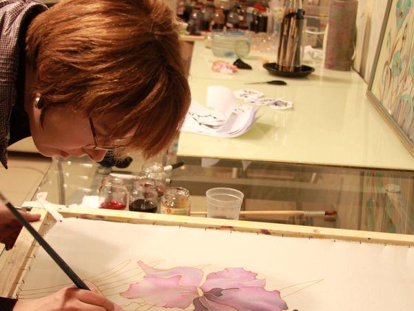Мастер-класс по Батику ВТОРНИК 13 сентября 12-00. Холодный батик. | Ярмарка Мастеров - ручная работа, handmade