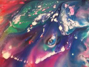 Видео мастер-класс по интуитивной живописи. Пишем абстрактное море и ската. Ярмарка Мастеров - ручная работа, handmade.