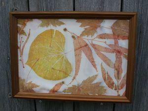 Использование листьев иудова дерева в экопринте. Ярмарка Мастеров - ручная работа, handmade.