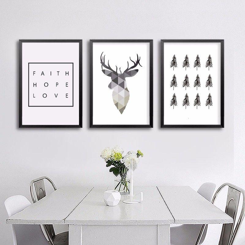 Постеры на стену в скандинавском стиле для печати