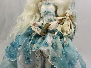 Голубая Гортензия - фарфоровая шарнирная кукла.. Ярмарка Мастеров - ручная работа, handmade.
