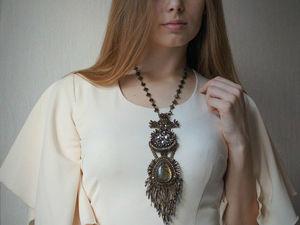 Кулон- галстук Тан Атара. Ярмарка Мастеров - ручная работа, handmade.