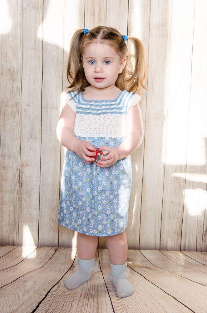 летнее платье, эко, вязаное