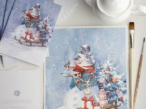 Новогодние открытки в наличии!. Ярмарка Мастеров - ручная работа, handmade.