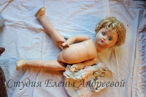 реставрация куклы, покрасить куклу