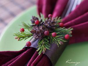 Делаем новогодние кольца для салфеток. Ярмарка Мастеров - ручная работа, handmade.