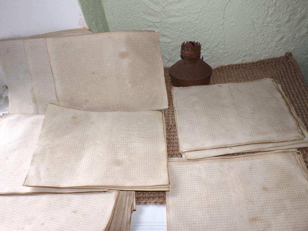 блокнот для записей, состаренная бумага, состаренный блок в клетку