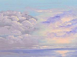 Два способа рисования туч и облаков масляными красками: видеоурок. Ярмарка Мастеров - ручная работа, handmade.