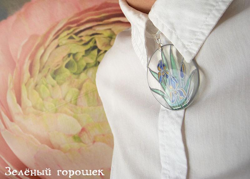 кулон, санкт-петербург, прозрачный кулон, цветы, украшение, авторская работа, кулон-галстук, под горло, кулон в подарок, весенний стиль