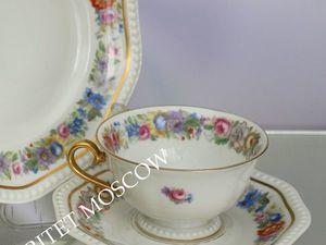 Чайная пара тройка золото Rosenthal Германия 20   Ярмарка Мастеров - ручная работа, handmade