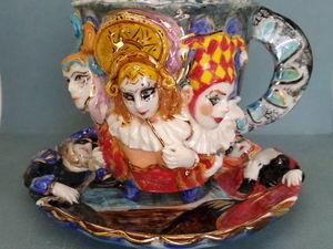"""""""Венецианский Карнавал"""".Чайная пара. Ярмарка Мастеров - ручная работа, handmade."""