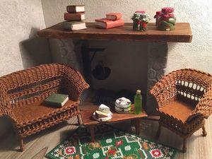 Кукольная мебель плетеная. Ярмарка Мастеров - ручная работа, handmade.