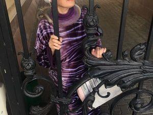 Фиолетовое платье -пальто. Ярмарка Мастеров - ручная работа, handmade.