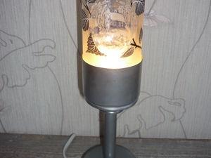 Изготовливаем настольный светильник из стеклянной бутылки. Ярмарка Мастеров - ручная работа, handmade.