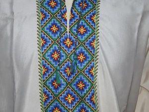 Мужская вышиванка. Рубашка. Хрущевские времена. Редкая!!!. Ярмарка Мастеров - ручная работа, handmade.