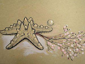 Живопись. Натюрморт в смешанной технике (тушь, акрил). | Ярмарка Мастеров - ручная работа, handmade