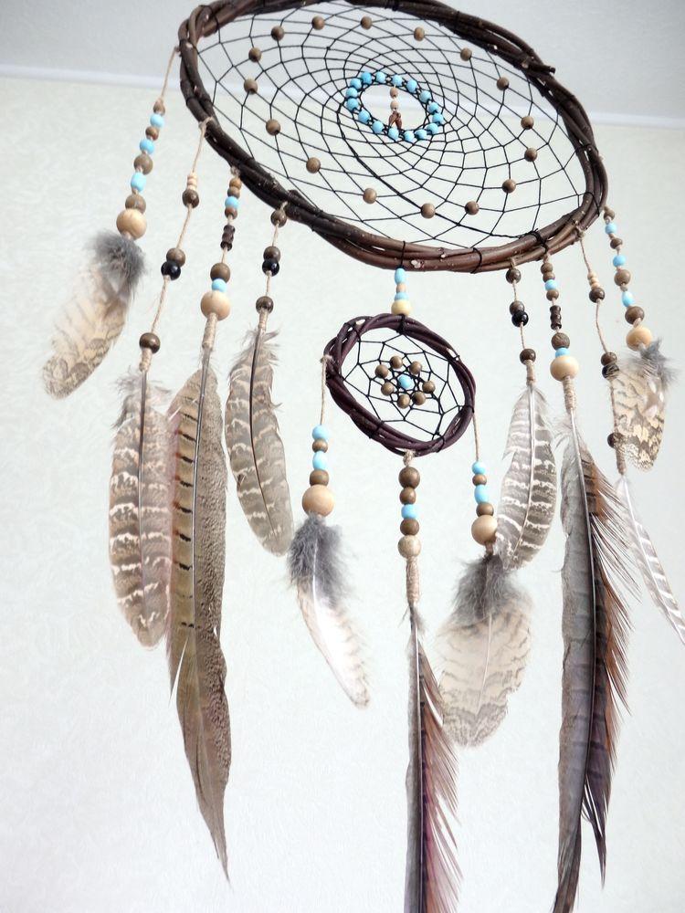 ловец сновидений, handmade, этно, коричневый