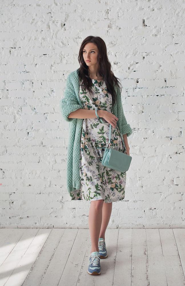 платье с принтом, oversize