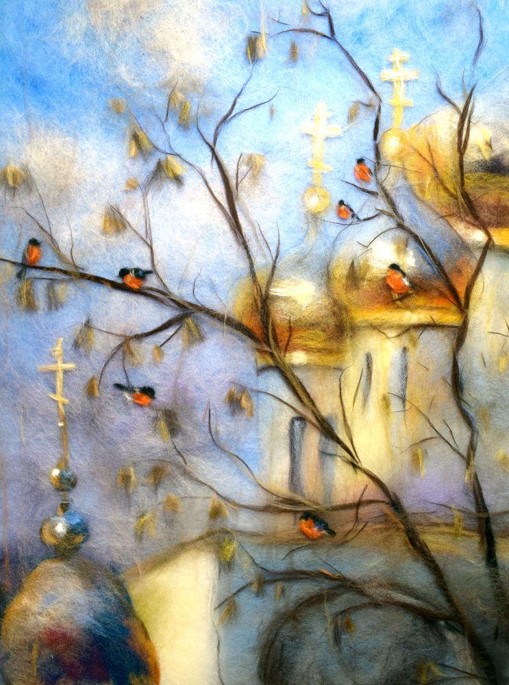 Картинки акварель из шерсти