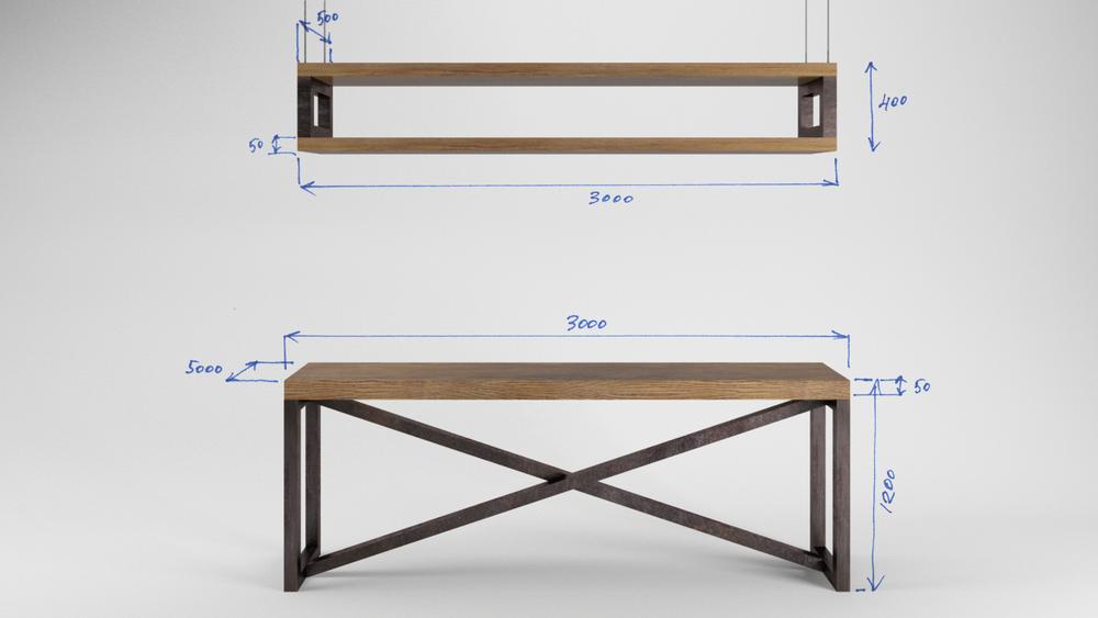 лофт, дизайн барбершопа, стильная мебель лофт