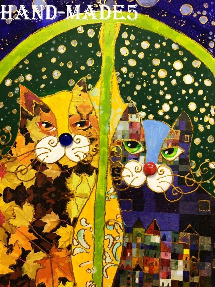 Интерьерное панно  «Кошки на окошке»  — Новый авторский Мк Натальи Полех!, фото № 11