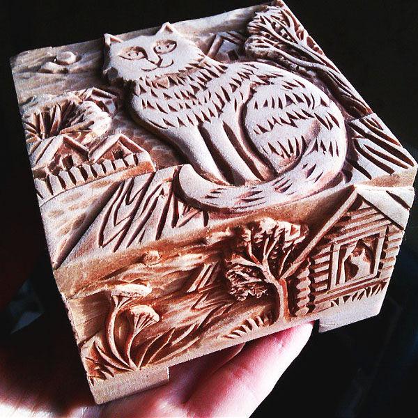 шкатулка, резьба по дереву, резная шкатулка, шкатулочка, шкатулка для украшений, шкатулка ручной работы, шкатулка в подарок, коты, кот, коты и кошки, для женщин, для украшений, подарок девушке, подарок на новый год