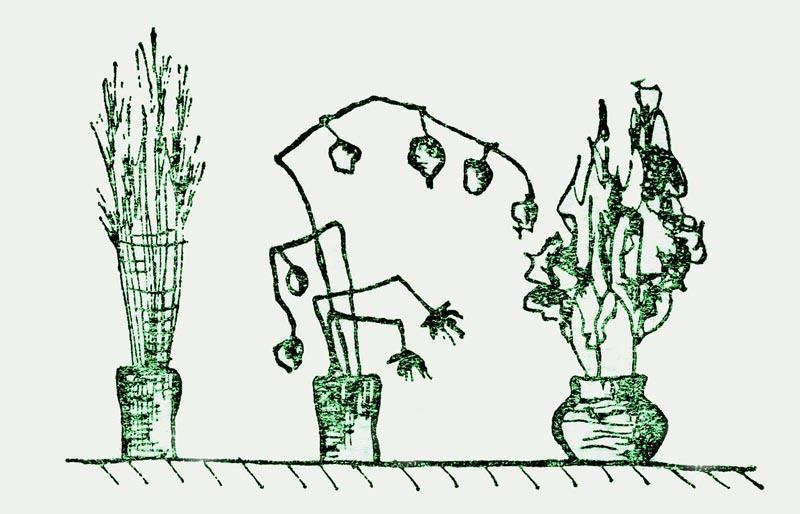 сушка растений, обработка глицерином
