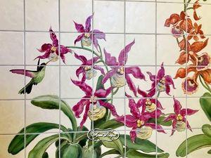 Роспись плитки  для ванной. Ярмарка Мастеров - ручная работа, handmade.