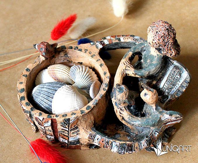 шкатулки, шкатулка в подарок, керамика хенд мейд, авторская ручная работа, ангел, роспись керамики
