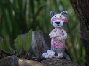 Вязаный кот аминеко Найджел. Ярмарка Мастеров - ручная работа, handmade.