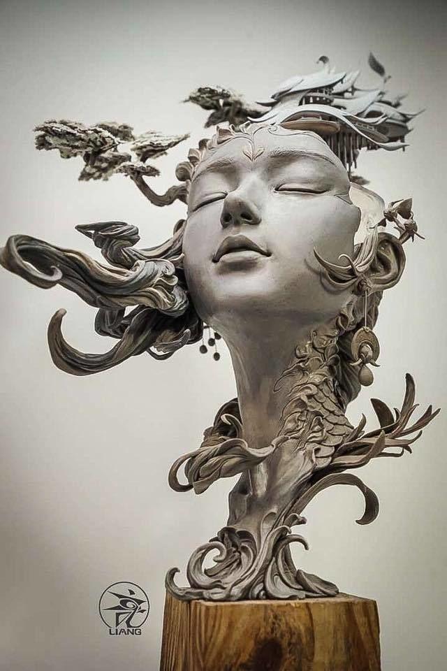 Китайский скульптор и его персиковый источник
