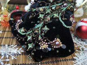 Создаем мешочек-сумочку из бархата с кристаллами Swarovski. Ярмарка Мастеров - ручная работа, handmade.