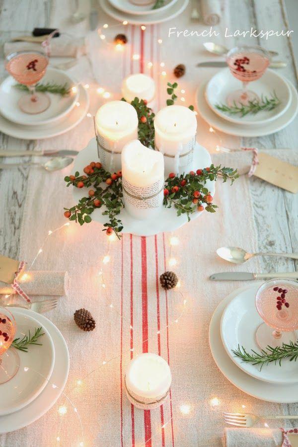 {Christmas table}