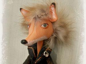 Завтра новая кукла ! Лиса и петух.. Ярмарка Мастеров - ручная работа, handmade.