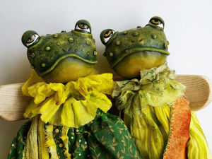 Жабы... Будуарные куклы. Лягушки.. Ярмарка Мастеров - ручная работа, handmade.