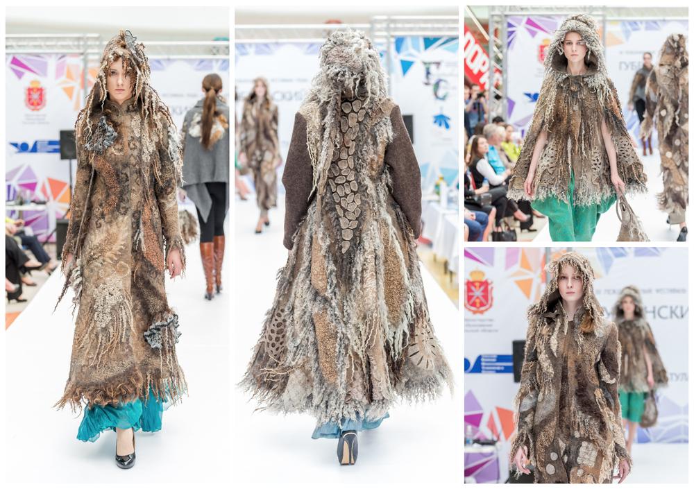 3d-пэчворк, арт-пальто, пальто с флисом, мк по валянию жилета