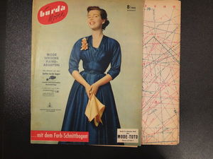 Бурда моден 8/1953 Burda moden. Ярмарка Мастеров - ручная работа, handmade.
