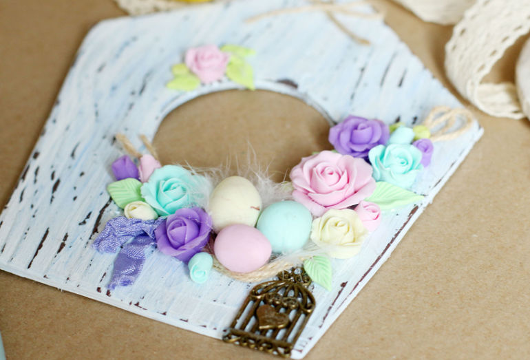 Making a Cute Easter Decoration of Polymer Clay, фото № 11