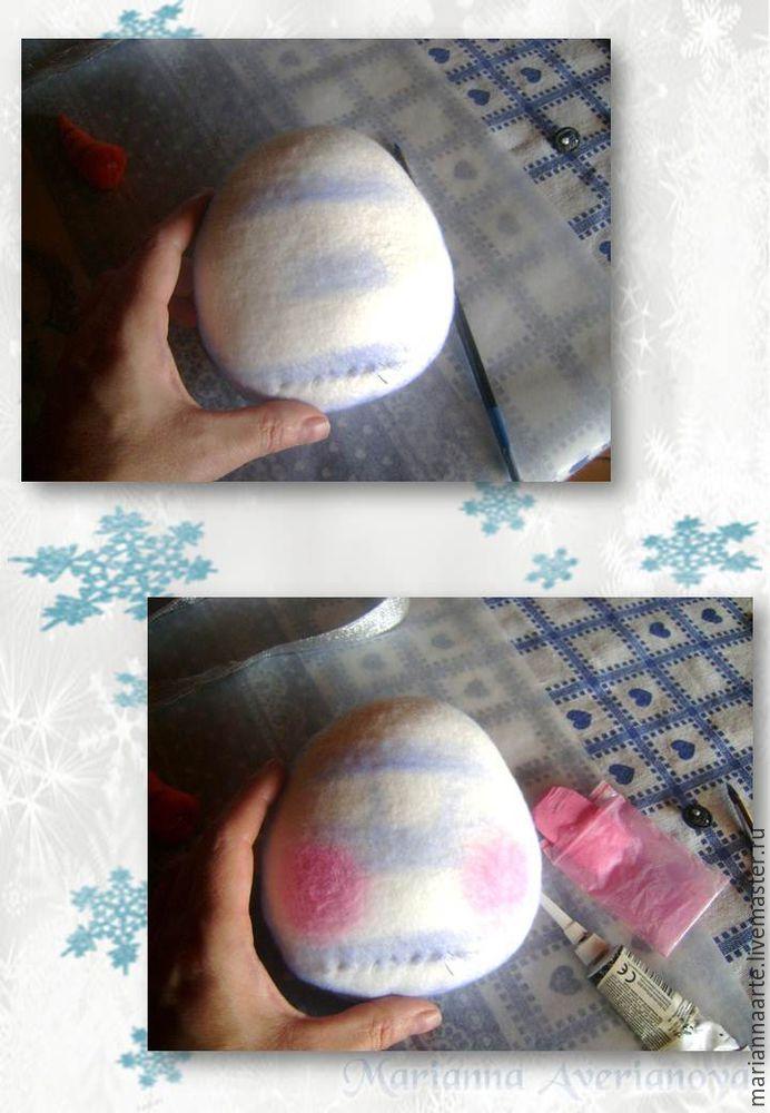 Мастер-класс по созданию забавной новогодней игрушки «Снеговичок-тюфячок», фото № 18