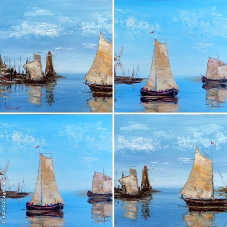 картина, картина маслом, картина в подарок, картина для интерьера, картина недорого, морская тема, лодки, парус, море, морская тематика, морской стиль, маяк, мельница, рыбак, новинка магазина, голубой, штиль