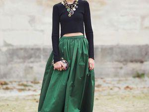 Макси-юбка: стильно, женственно, шикарно. Ярмарка Мастеров - ручная работа, handmade.